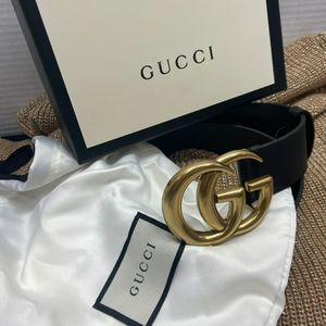 Black GG Gucci Belt